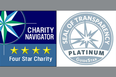 SDRI Earns 4-Star Rating from Charity Navigator and GuideStar Platinum Seal of Transparency